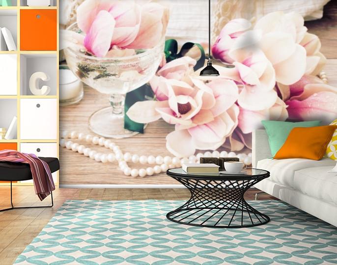 Фотообои текстурированные, виниловые Цветы, 250х380 см, fo01inV_fl13604