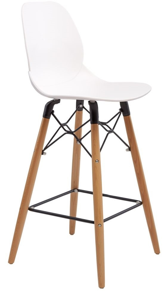 Полубарный стул Friend белый TM Concepto