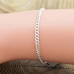 """Серебряный браслет """"Панцирный скруглённый"""", длина 15 см, ширина 2.5 мм, вес серебра 2.0 г"""