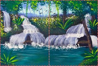 Фотообои бумажные гладь, Водопады, 200х310 см, fo01inB_wf00343, фото 2