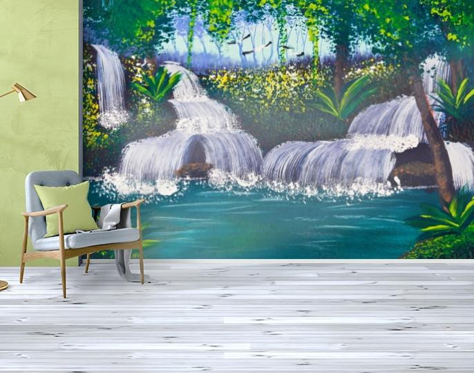 Фотообои текстурированные, виниловые Водопады, 250х380 см, fo01inV_wf00343