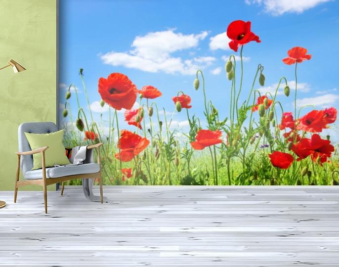 Фотообои бумажные гладь, Цветы, 200х310 см, fo01inB_fl13138