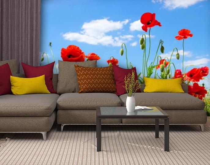 Фотообои текстурированные, виниловые Цветы, 250х380 см, fo01inV_fl13138