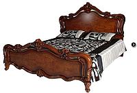 Кровать деревянная орех