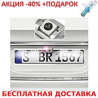 Универсальная рамка для номера с камерой заднего хода EU Car Plate Camera 16 LED Gray Original size+Селфи палк, фото 1