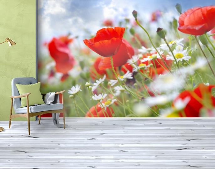 Фотообои бумажные гладь, Цветы, 200х310 см, fo01inB_fl12018