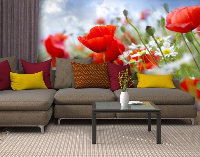 Фотообои текстурированные, виниловые Цветы, 250х380 см, fo01inV_fl12018