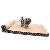 Матрас для собак и котов Глория коричневый + бежевый, фото 1