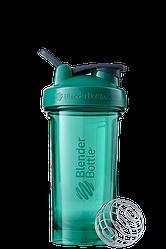 Спортивная бутылка-шейкер для воды с венчиком BlenderBottle зеленая