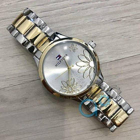 Часы Женские Томми Хилфигер T H45 \ Браслет Серебро с Золотом \Срібло \Жіночі часи Годинник  ГАРАНТИЯ