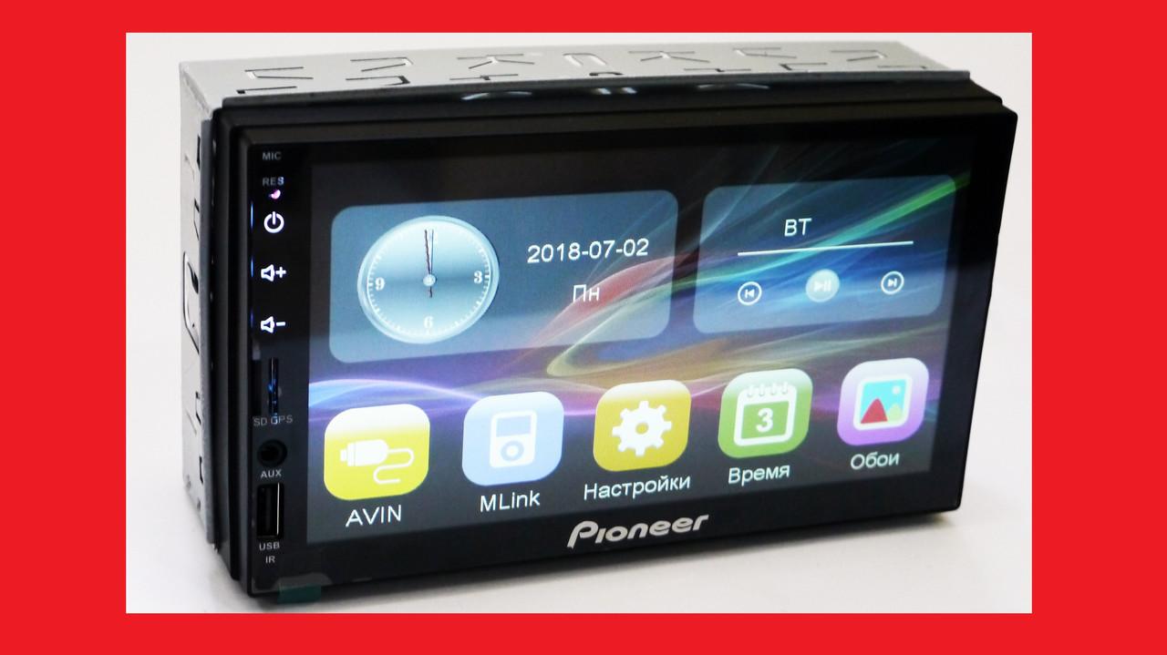 2din Pioneer 7023 GPS Автомагнитола USB+SD+Bluetooth (Короткая база)