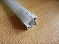 Алюминиевый профиль для светодиодной ленты угловой UD-18 + Линза