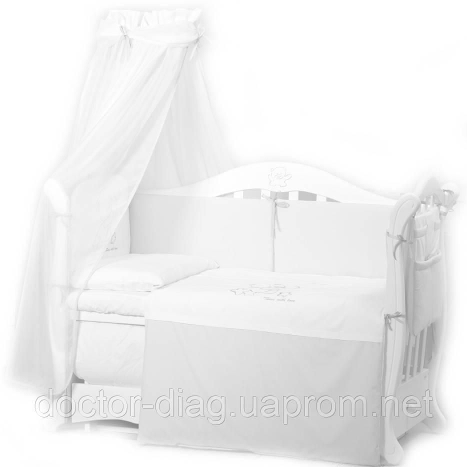 Twins Детский постельный комплект Twins Dolce D-010 Loving bear (white/white)