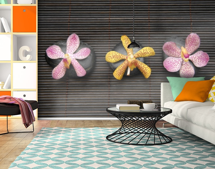 Фотообои текстурированные, виниловые Цветы, 250х380 см, fo01inV_fl102566