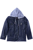 Куртка для ребёнка/мальчик 100% коттон деним Синий AVM Teks все размеры  10 лет (140 см)