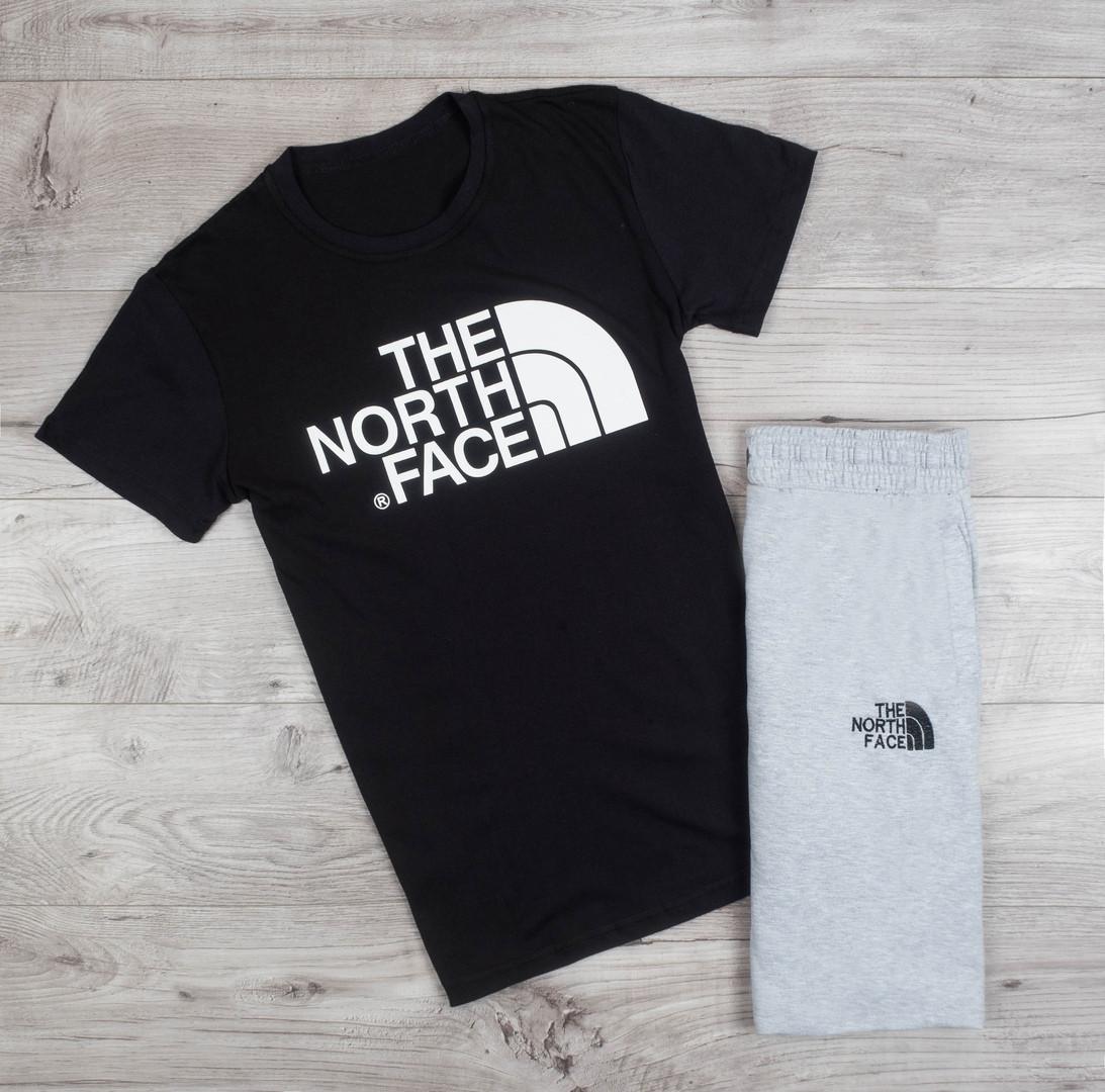 Футболка мужская The North Face хлопковая качественная практичная на каждый день (черная), ТОП-реплика