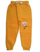 Спортивные штаны для ребёнка/девочка 95% хлопок 5% полиэстер Желтый Lucky все размеры  7 лет (122 см)