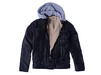 Куртка для ребёнка/мальчик 100% коттон деним чёрный AVM Teks все размеры  14 лет