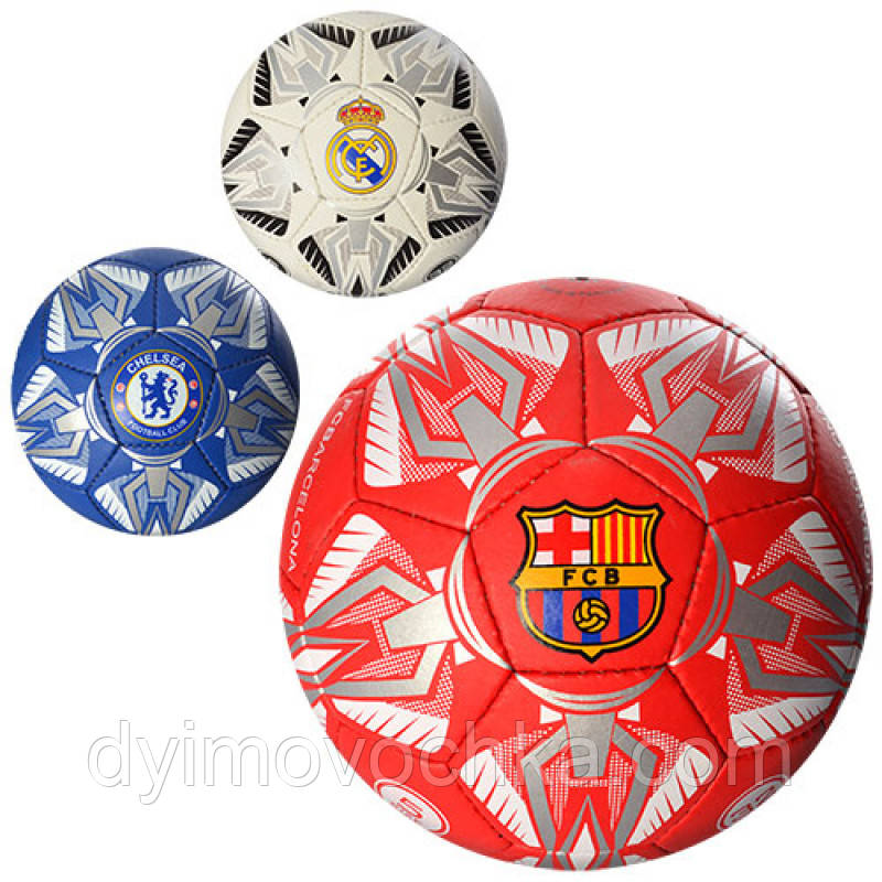 Мяч футбольный 2500-23ABC, размер 5, 400-420 г, 3 вида