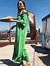Женское льняное платье-рубашка с открытыми плечами SM, LXL, фото 2