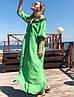Женское льняное платье-рубашка с открытыми плечами SM, LXL, фото 8