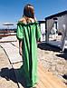 Женское льняное платье-рубашка с открытыми плечами SM, LXL, фото 9