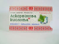 "Аскорбиновая кислота ""Витамин С + ментол и эвкалипт"", ""Лимон""таблетки 3 г №6."