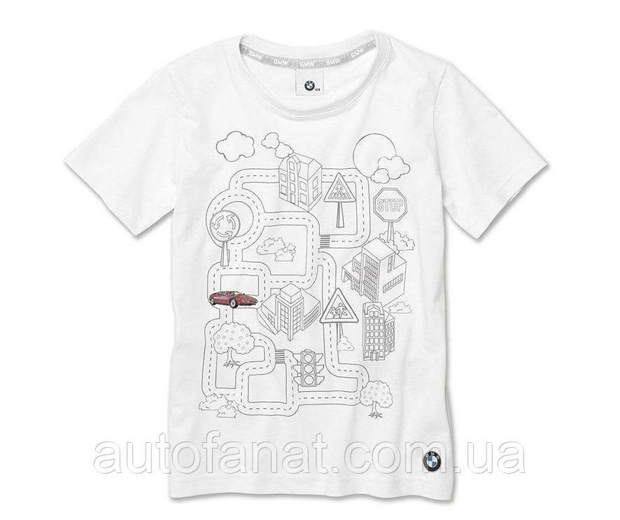 Оригинальная детская интерактивная футболка BMW Interactive T-Shirt, Kids, White (80142454614)
