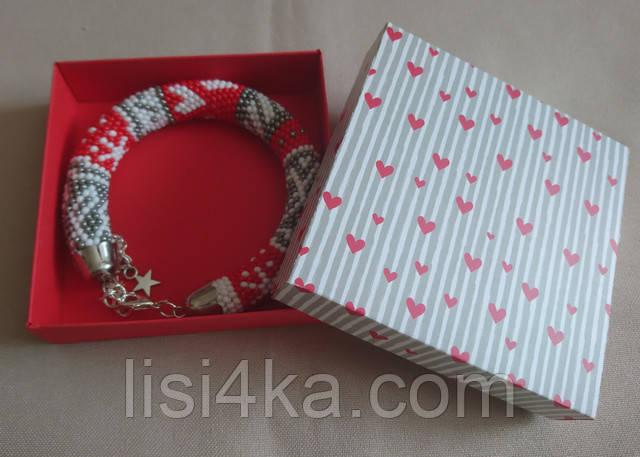 Толстый браслет из бисера в скандинавском стиле
