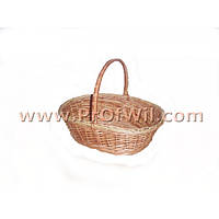 Плетеная подарочная корзина из лозы