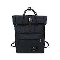 Рюкзак для ноутбука Rolltop(роллтоп) с юсб(usb) выходом черный Mojoyce(AV171)