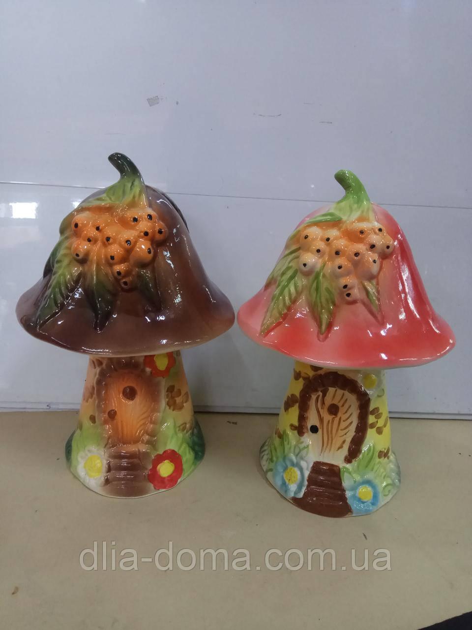 Садовые украшения гриб глазурь маленикий 25х16
