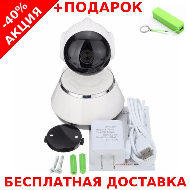 Беспроводная поворотная мини ONVIF Camera с ночной подсветкой + powerbank 2600 mAh