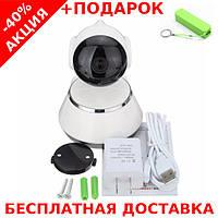 Беспроводная поворотная мини ONVIF Camera с ночной подсветкой + powerbank 2600 mAh, фото 1