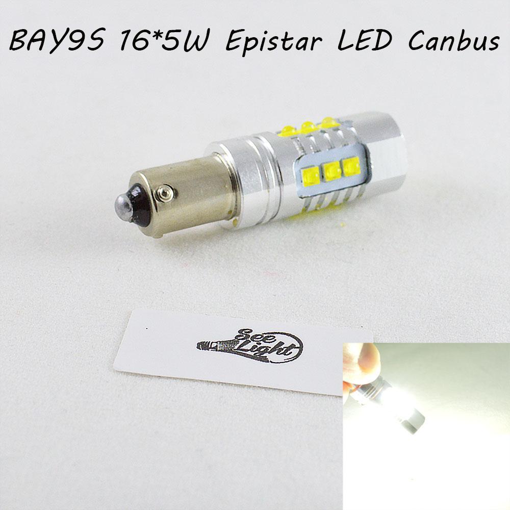 Мощная светодиодная  лампа  SLP LED с цоколем BAY9S (H21W) (H6W) Epistar 80W 9-30V Белый Canbus