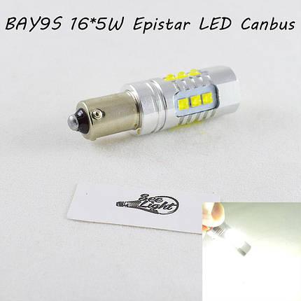 Мощная светодиодная  лампа  SLP LED с цоколем BAY9S (H21W) (H6W) Epistar 80W 9-30V Белый Canbus, фото 2