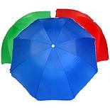 Пляжный Складной Наклонный Солнцезащитный Зонт 200 см Зонтик, фото 5