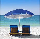 Пляжный Складной Наклонный Солнцезащитный Зонт 200 см Зонтик, фото 7