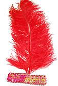 Повязка с пером Диско (красная) 220216-047