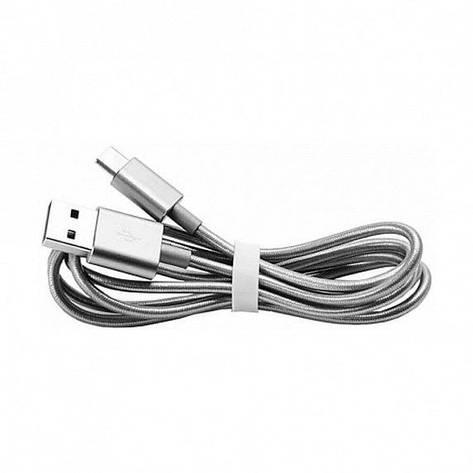 Дата кабель Xiaomi Metal USB Type-C Cable 1m silver (SJV4085TY), фото 2