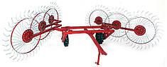 Грабли Солнышко для трактора на 6 колес (спица 6мм)