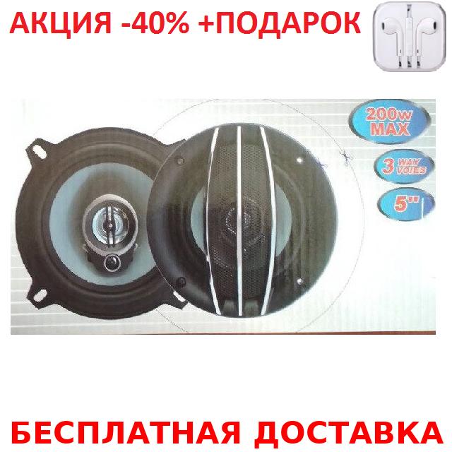 Автоакустика колонки динамики для автомобиля d 13 см круглые ROUND Авто акустика Original size+Наушники