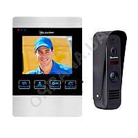 Компактный комплект видеодомофона PoliceCam PC-406R + PC-202 black