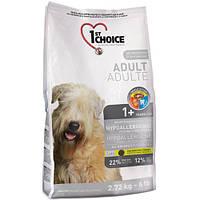 Корм гипоаллергенный с уткой и картошкой  для собак всех пород- 1st Choice Hypoallergenic Adult, 12 кг