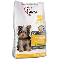 Корм с курицей для щенков мини и малых пород(от 2 мес.). 1st Choice Puppy Toy&Small Chicken, 7 кг