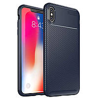 Чохол Carbon Case Apple iPhone XS Max Синій