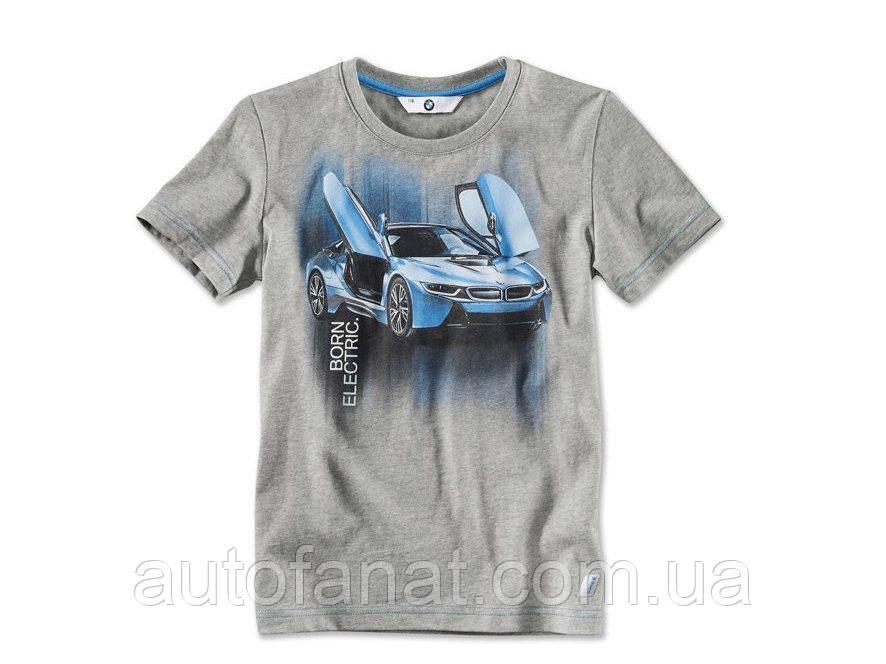 Оригинальная детская футболка BMW i T-Shirt with i8 Print, Kids. (80142411520)