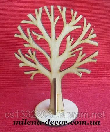 """Заготовка """"дерево на подставке"""" 26*19см (фанера)"""