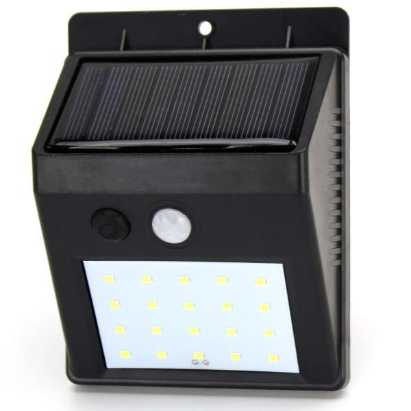Светодиодный  фонарь с датчиком движения SOLAR 20LED 609 Черный