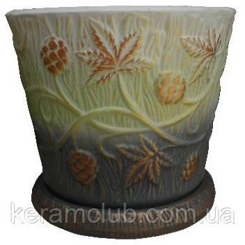 Керамический цветочный горшок 3л